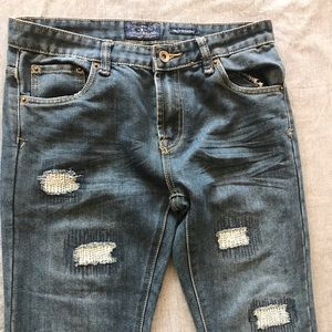 Lucky brand Billy straight distressed jeans